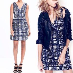 NWT! Madewell Midnight Brushstroke Plaid Dress 6